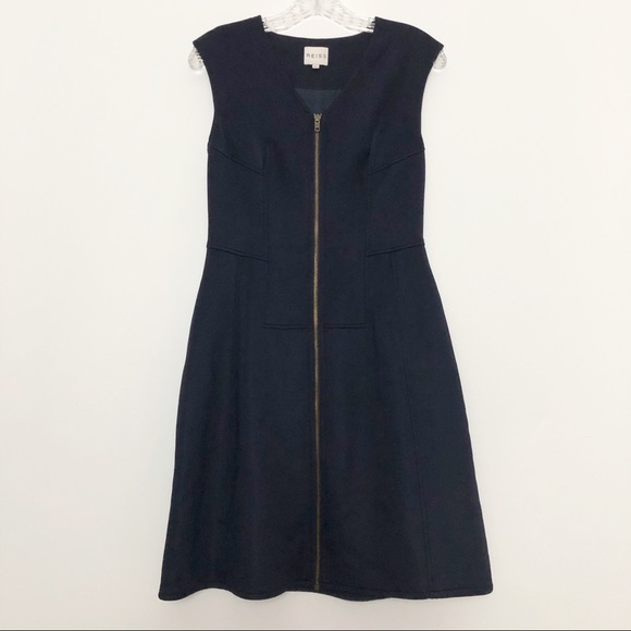 Reiss Dresses & Skirts - Reiss Front Zip Navy Dress Size 10